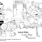 lulu and milo last day of school coloring page